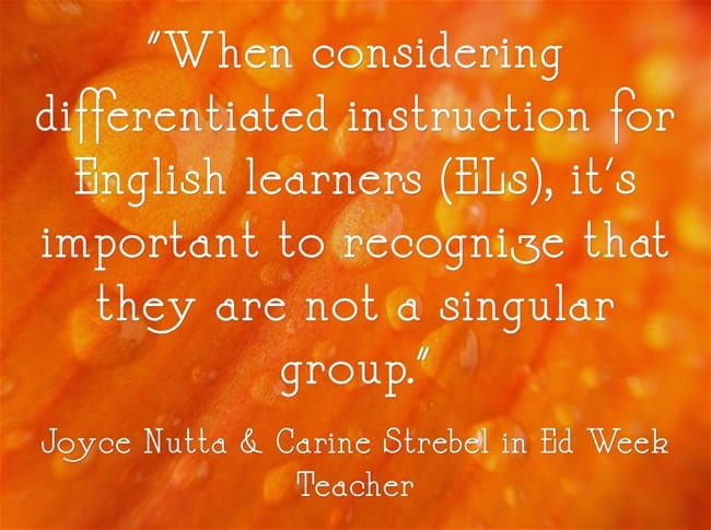 Quote on differentiating instruction